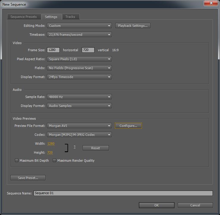 Morgan Multimedia - Support - Adobe Premiere Pro Sequence